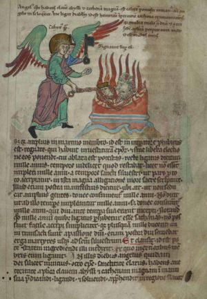 144r Dragon-interpreted-as-Emperor-Henry,-chained-by-Angel-interpreted-as-Pope-Calixtus-II