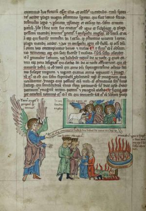 92v Third-Angel-interpreted-as-Pope-Gregory-III,-judgement-of-those-who-worship-Beast-interpreted-as-Emperor-Leo