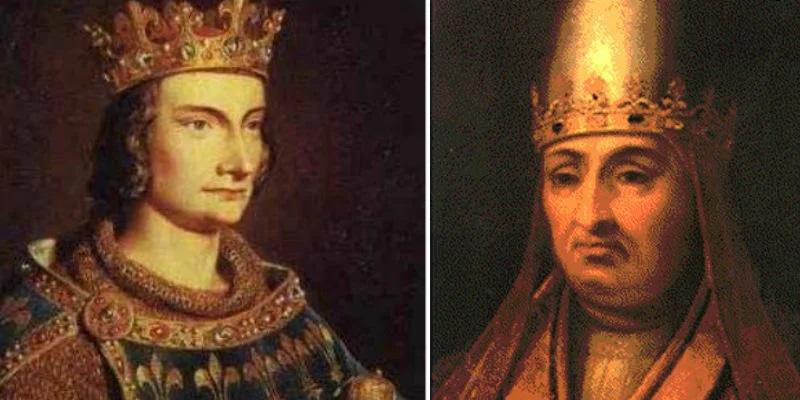 Филипп Красивый и Бонифаций VIII