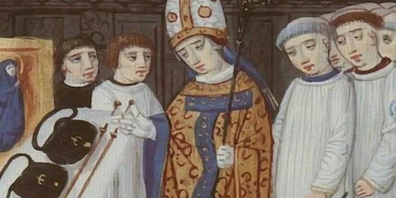 Епископ благославляет на пелегримаж