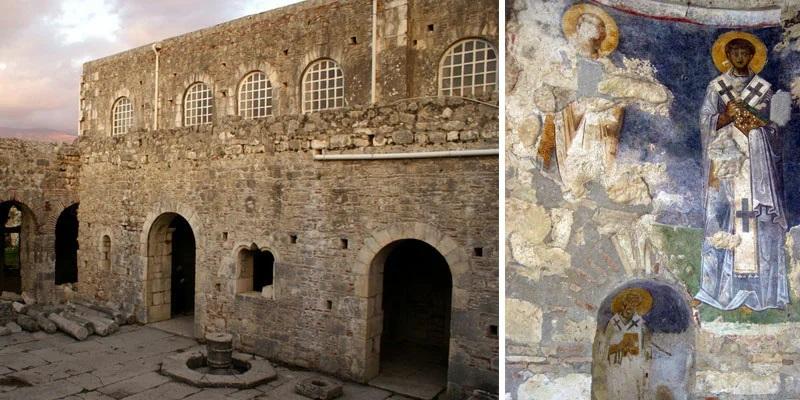 Развалины храма святого Николая в Мире