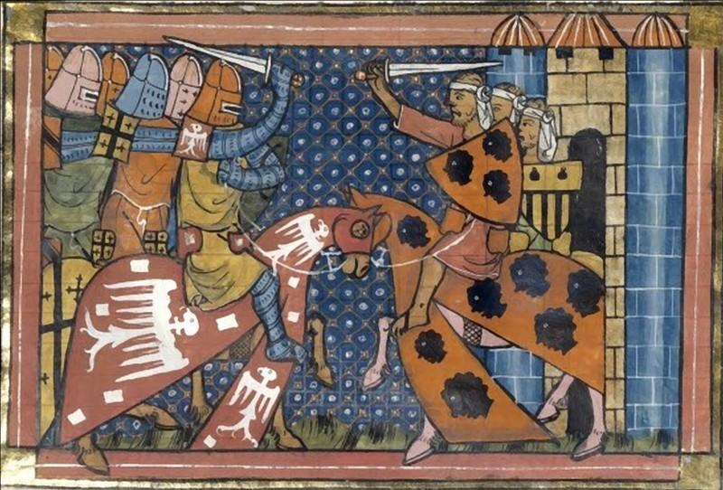 UNA PARS SANCTAE CRUCIS: об одном воинском символе франков Эдессы