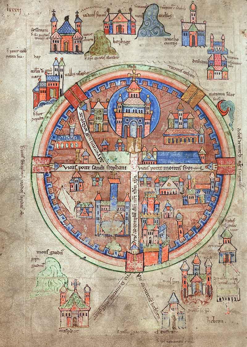 Uppsala-map. Средневековая карта Иерусалима