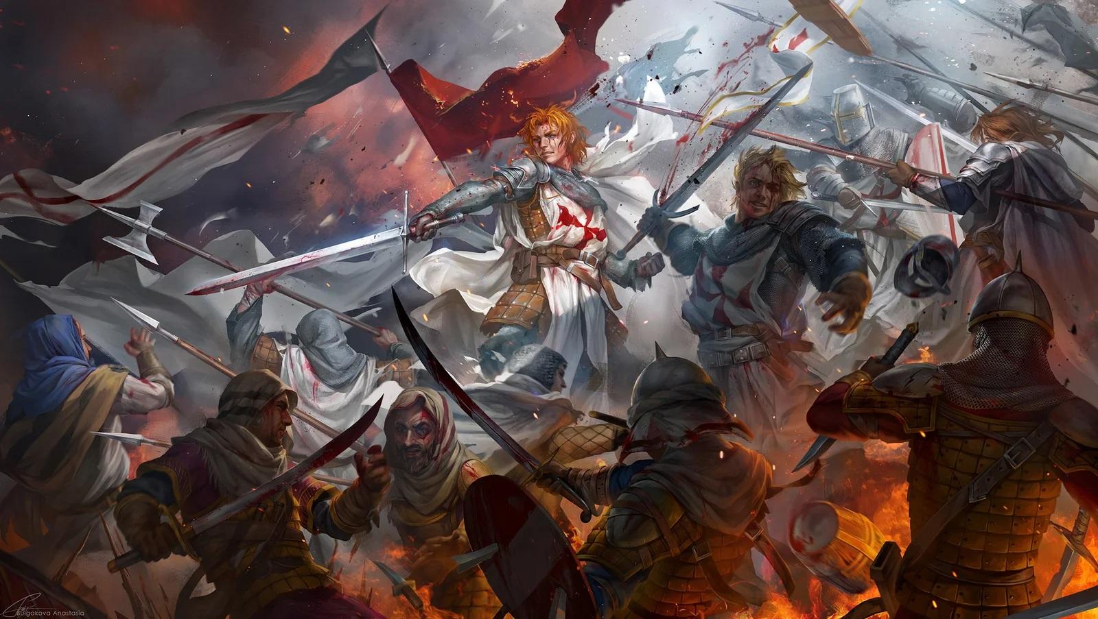 Битва тамплиеров с хорезмийцами