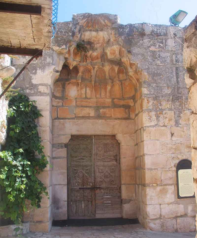 михраб в замке Сафед