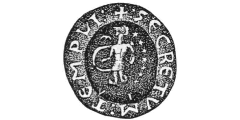 печать прецептора Франции Андре де Колура