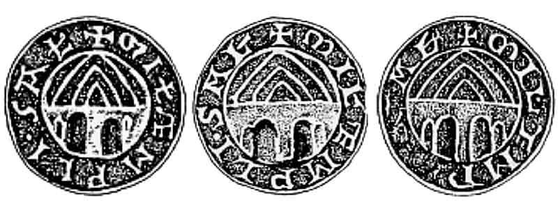 печати французских магистров тамплиеров