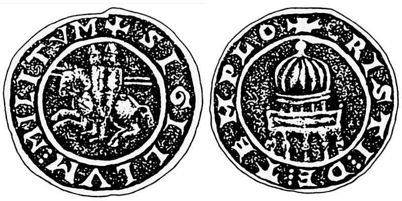 печать магистра тамплиеров Бертрана де Бланшфора
